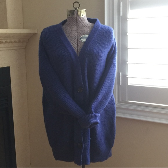 Dreamers Blue Oversized Cardigan